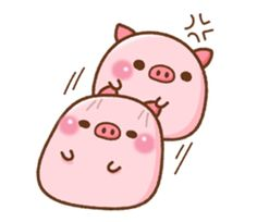 It is Colo pig stickers that can be used in daily life. Pig Sketch, Chibi Sketch, Cute Kawaii Drawings, Cute Animal Drawings, Bear Wallpaper, Wallpaper Iphone Cute, Cute Piglets, Pig Illustration, Pig Art