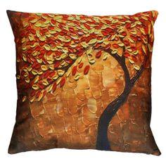 Pillowcase Tree Printing Halloween Vintage Pillow Case Flower Waist Throw Cushion Cover for Home Decor Fundas De Cojin #7420  #Affiliate