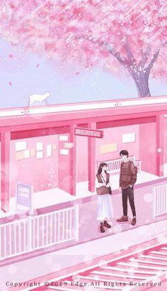 Cute Couple Art, Anime Love Couple, Couple Cartoon, Book Cover Background, Cover Wattpad, Couple Illustration, Train Illustration, Romantic Anime Couples, Animated Love Images