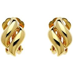 Finesse Plated Diamond Shape Earrings , Gold ($38) ❤ liked on Polyvore featuring jewelry, earrings, gold, gold clip earrings, clip earrings, gold jewellery, polish jewelry and gold jewelry