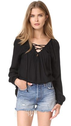 BB DAKOTA Jack By Bb Dakota Boothe Lace Up Top. #bbdakota #cloth #dress #top #shirt #sweater #skirt #beachwear #activewear