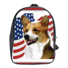 Pembroke Welsh Corgi with Flag Leather Backpack   eBay, if you cant find this on ebay jut contact me at knewf@zumatel.net