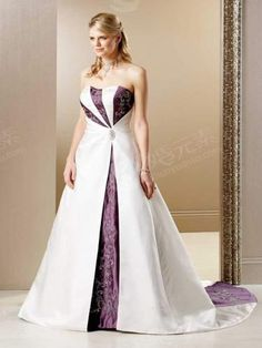 purple and white wedding dresses | Purple And White Wedding Dress B167 [M9TLFRMO] - $388.00 : Dresses ...