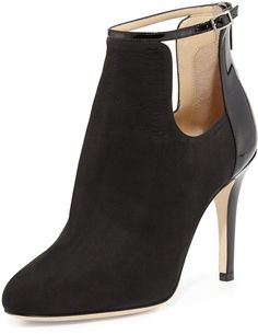 Jimmy Choo Livid Suede Ankle Boot, Black