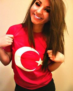 Beautiful Turkish Girl with turkish flag | Flickr - Photo Sharing!
