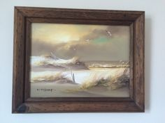 "Original Acyrlic on Canvas - Seascape - Framed - Signed by Artist ""K Wilson"" - approx x including frame Artist Painting, Art Painting, Canvas, Painting, Painting Prints, Art, Seascape Paintings, Prints"