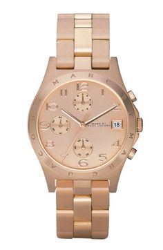 MARC BY MARC JACOBS 'Henry' Rose Gold Chronograph Watch   Nordstrom