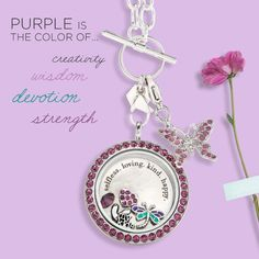 The color purple is symbolic of many meaningful attributes. This Mother's Day, give her something that signifies who she is and what she means to you with a Living Locket!