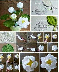 New Crochet Flowers Bouquet Free Pattern 57 Ideas Diy Crochet Flowers, Crochet Bouquet, Crochet Puff Flower, Diy Crafts Crochet, Crochet Flower Tutorial, Knitted Flowers, Crochet Flower Patterns, Fabric Flowers, Crochet Projects