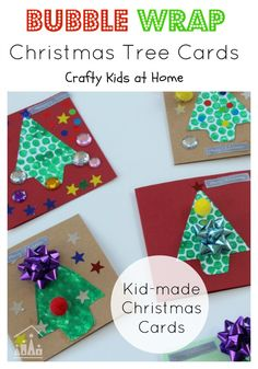 bubble wrap christmas tree cards kids christmas cardschristmas crafts for toddlersdiy - Christmas Crafts For Kids To Make At Home