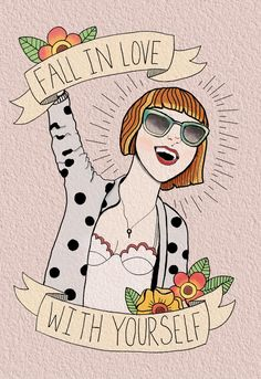 Fall in love with yourself  Original art by me, korrthy.tumblr.com  Please get correct sources for artwork!!!