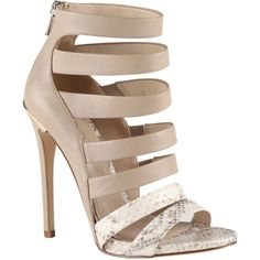 ALDO Soshannah sandals ($56) ❤ liked on Polyvore featuring shoes, sandals, heels, sapatos, zapatos, bone, heeled sandals, real leather shoes, leather heeled sandals and leather sandals