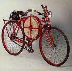 "magnoliablossom2: "" Fireman's bicycle, 1905 """