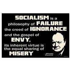 Sir Winston Churchill  - Socialism quote