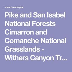Pike and San Isabel National Forests Cimarron and Comanche National Grasslands - Withers Canyon Trailhead