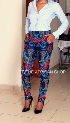 African print pants