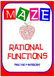 Maze - Rational Functions - Find the y-intercept                                                                                                                                                                                 More