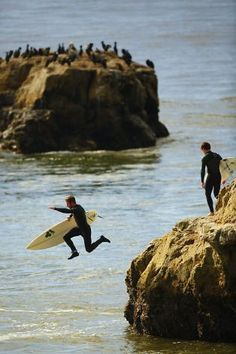 Surfers at Steamers Lane at Lighthouse Point on West Cliff Drive in Santa Cruz, California . Photo: Craig Lee
