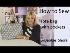 A simple Handbag for you to sew by Debbie Shore - YouTube