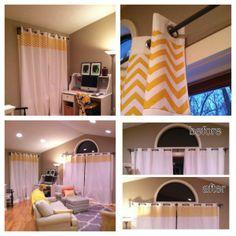 Adding fabric to Ikea curtains