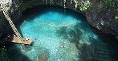 Samoa Tourism Authority : Image: To Sua Ocean Trench at Lotofaga village on Upolu, Samoa.