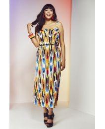 Tribal Print Midi Dress - Length from 45in
