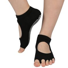 de710a400081 Matymats Women €‡s Grip Yoga Socks Half Toe Low Rise for Pilates