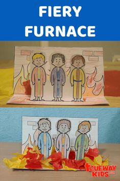 Easy Bible craft based on Daniel Shadrach, Meshach, and Abednego and the Fiery Furnace. Daniel Bible Crafts, Bible Crafts For Kids, Bible Study For Kids, Sunday School Crafts For Kids, Sunday School Activities, Sunday School Lessons, Easy Toddler Crafts, Easy Crafts, Fiery Furnace