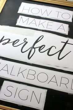 How to Make A Perfect Chalkboard Sign - That Newlywed LifeYou can find Chalkboard lettering and more on our website.How to Make A Perfect Chalkboard Sign - That Newlywed Life Chalkboard Stencils, Chalkboard Wall Bedroom, Make A Chalkboard, Chalkboard Writing, Kitchen Chalkboard, Chalkboard Drawings, Chalkboard Lettering, Chalkboard Designs, Chalkboard Quotes