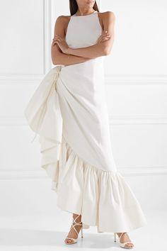 Rosie Assoulin - Whoopsy Daisy asymmetric ruffled silk-charmeuse gown 6d38097b1