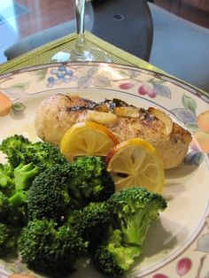 Lemon Basil Chicken Breasts with Olive Oil, White Wine and Garlic from http://learnfromyesterday.com