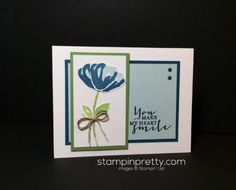 Stampin Up, Bunch of Blossoms, Friendship card idea-Mary Fish, stampinup
