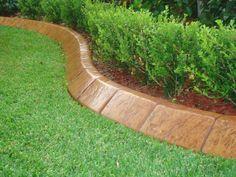 Simple Glossy Bricks For Grass Edge - Best Lawn Edging Ideas: Beautiful, Simple, Easy Lawn Borders, Landscape Edging, Garden Edges Border Edging Ideas, Garden Border Edging, Grass Edging, Brick Edging, Lawn Edging, Garden Borders, Stone Edging, Driveway Edging, Paver Edging