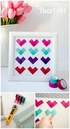 Craftaholics Anonymous® | Valentine's Day Washi Tape Hearts #ScotchEXP