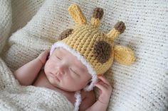 Cute Crochet Giraffe Hat Newborn by AmiAmigos on Etsy, $20.00
