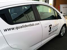 These vehicle graphics on the fleet for Qualident Dental Labs can be seen all around Vancouver, WA!