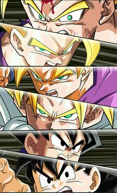 The evolution of Gohan - Dragon ball