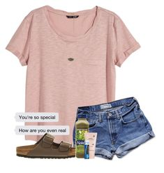 """""""Morning """" by wander-krn ❤ liked on Polyvore featuring H&M, Kendra Scott, Abercrombie & Fitch, Birkenstock, FRUIT and Marc Jacobs"""