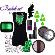 Maleficent inspired outfit by zedangaby on Polyvore featuring Glamorous, Privileged, KOTUR, Blu Bijoux, LORAC, Stila, Vincent Longo and NARS Cosmetics