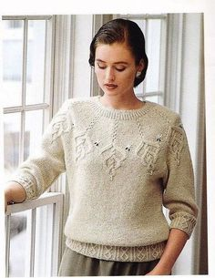 smaragd by svetlana volkova knitting Knitting Stitches, Knitting Designs, Knitting Needles, Hand Knitting, Crochet Clothes, Pulls, Knitwear, Knit Crochet, Knitting Patterns