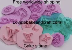 Cutter for flowercraft sugarwork cookies flowers and Chanel Cookies, Chanel Cupcakes, Fondant Cupcakes, Fondant Molds, Cake Stencil, Stencils, Louis Vuitton Cake, Cupcake Logo, Fondant Stamping
