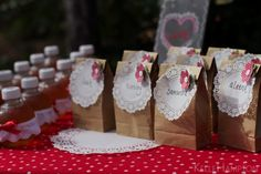 A super girly little party- doilies everywhere, decorate terracotta pots with paint and lace and flowers. So precious!!