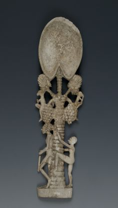 Spoon for cosmetics - Egypt, New Kingdom, Dynasty XVIII, ivory