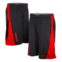 2014 Nike Sideline Warp Speed Short Nike Dri-Fit knit mesh shorts with warp speed design side panels, side seam pockets and exposed elastic waistband with internal drawstring, featuring Aztecs screen printed on the right leg. $48