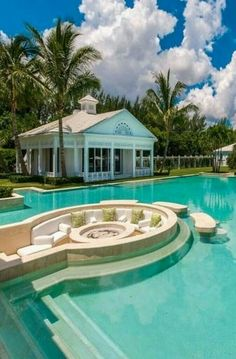 As the pool isn't built into the ground, it's easily transferable once you move home. A pool is the greatest backyard amenity. If you believe you are prepared to construct your own pool, start looking for inspiration online and you… Continue Reading → Luxury Pools, Luxury Swimming Pools, Dream Pools, Beautiful Pools, Swimming Pool Designs, Kids Swimming, Celebrity Houses, Celebrity Mansions, Cool Pools