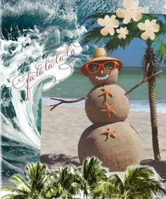 Beachy Christmas... created with Bazaart