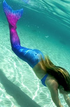 Maui Splash Mermaid Tail (Limited Edition) All new and only from Fin Fun! Becoming the star of the pool is a breeze with this gorgeous ombre patterned mermaid tail!