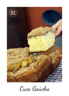 Cuca Gaúcha Food Cakes, Red Rice Recipe, Rice Recipes, Banana Bread, Food And Drink, Cooking, Band, Desserts, Alice