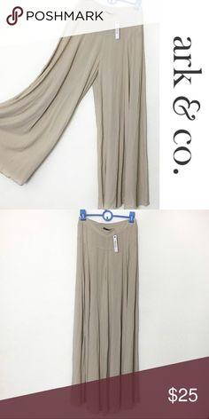 Ark & Co. Khaki Wide Leg Pants Never worn Ark & Co. khaki pants! Ultra comfortable. New with tags! - Alex Ark & Co Pants Wide Leg