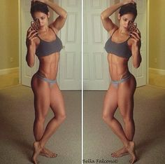 Fitness girls // motivation although I don't want to be that toned.